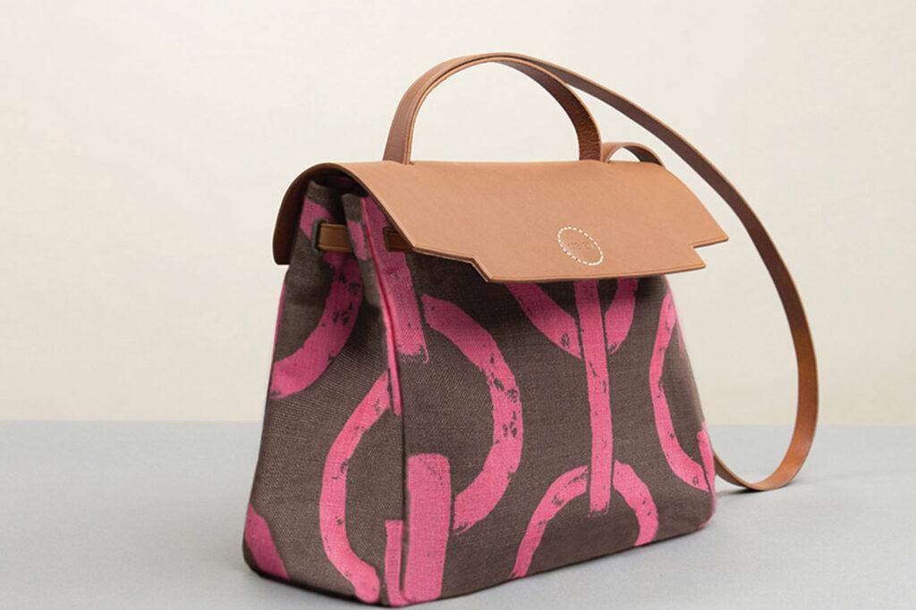 elegant leather bag handmade in Italy