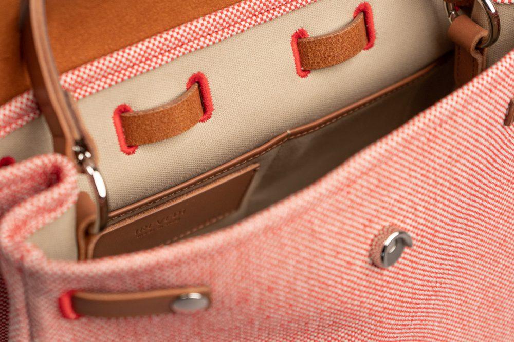 borse tracolla donna rosse e marroni in vera pelle e tessuto