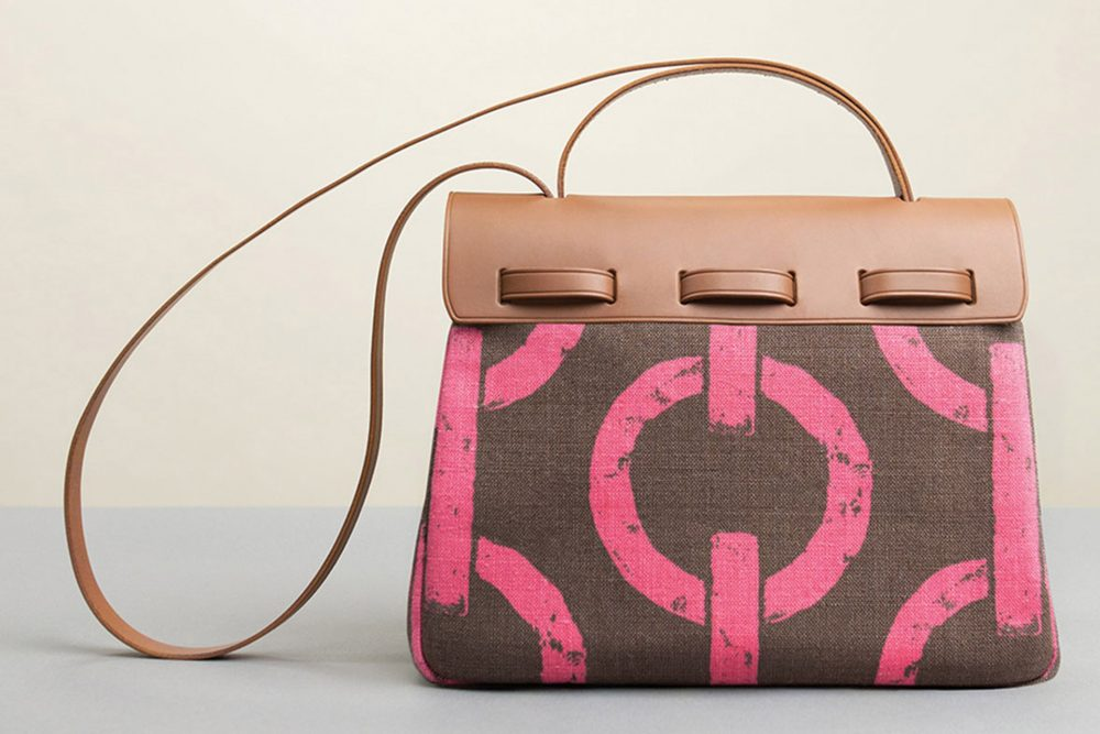 borsa donna in pelle marrone irevedì con disegni eleganti