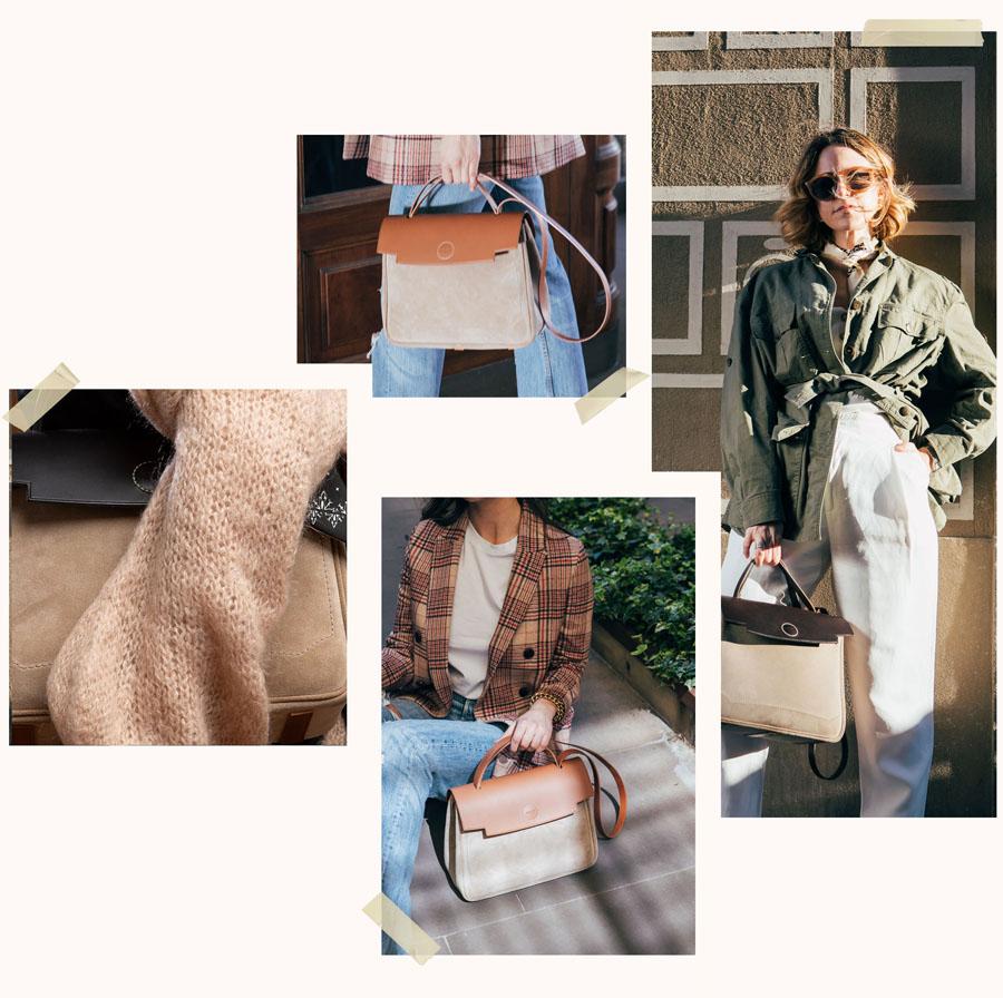 ray bag suede borse per donna in pelle marrone