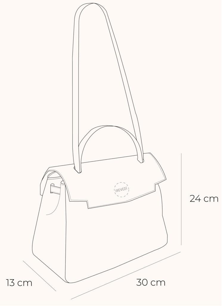 disegno tecnico borsa artigianale irevedì